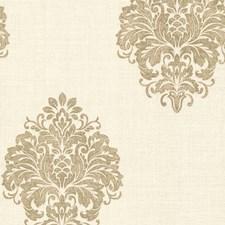 671-68543 Duchess Gold Damask by Brewster