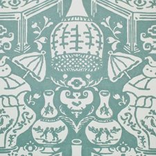 Teal Wallcovering by Clarence House Wallpaper