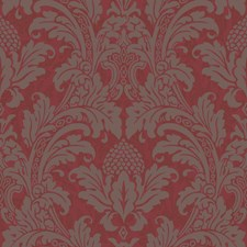 Red and Silver Wallcovering by Cole & Son Wallpaper