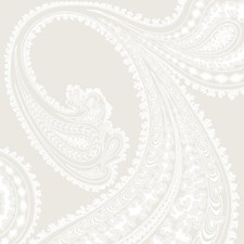 White/Shell Paisley Wallcovering by Cole & Son Wallpaper