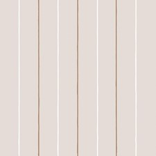 Crm/Wht/Gld Stripes Wallcovering by Cole & Son Wallpaper