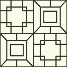 Black/White Bohemian Wallcovering by York