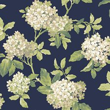 Blues Floral Medium Wallcovering by York