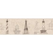Ecru/Beige/Graphite Grey Bricks Wallcovering by York