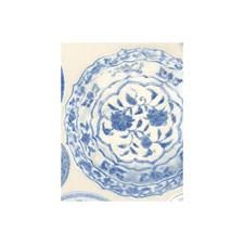 Blue White Novelty Wallcovering by Andrew Martin Wallpaper