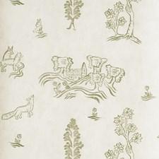 Basil Green Novelty Wallcovering by Andrew Martin Wallpaper