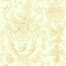 Beige/White Sidewall Wallcovering by York