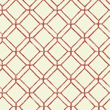 Cream/Coral/Red Geometrics Wallcovering by York