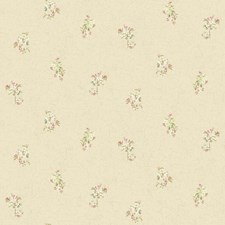 Soft Silver/White/Lilac Floral Wallcovering by York