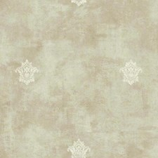 Beige/Cream Fleur De Lis Wallcovering by York