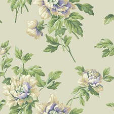 Pale Yellow/Lavender/Butterscotch Floral Wallcovering by York