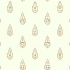 Off-white/Metallic Gold/Metallic Silver Metallic Wallcovering by York