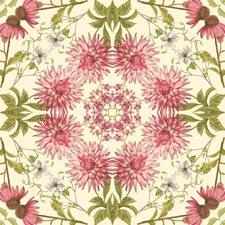 Almond/Pink Botanical Wallcovering by York