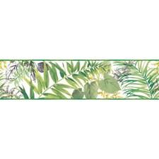 Green/White Botanical Wallcovering by York