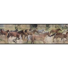 Black/Brown/Green Animals Wallcovering by York