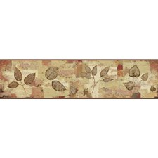 Red/Brown Botanical Wallcovering by York