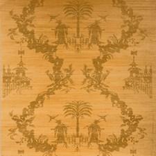 Gold On Natural Print Wallcovering by Brunschwig & Fils
