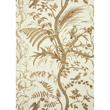 Beige Toile Wallcovering by Brunschwig & Fils