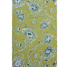 Chartreuse On White Contemporary Wallcovering by Brunschwig & Fils
