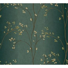 Teal/Bronze Metallic/Powder Green Wall Décor Wallcovering by York