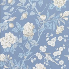 Blue Botanical Wallcovering by G P & J Baker