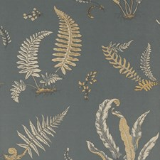Charcoal/Bronze Wallcovering by G P & J Baker
