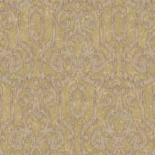 Lustrous Golden Metallic/Muted Hazelnut/Yellow Cream Ikat Wallcovering by York