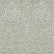 Metallic Gray/Off White Traditional Wallcovering by York