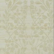 Gold Metallic/Silver Metallic/Brown Grasscloth Wallcovering by York