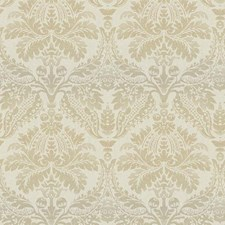 Iridescent Gold/Cream Damask Wallcovering by York