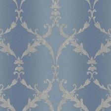 Blue/Grey Scroll Wallcovering by York