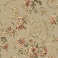 Pearl/Brown Floral Medium Wallcovering by York