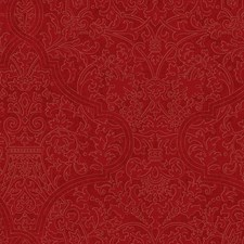 Bright Red/Metallic Gold Damask Wallcovering by York