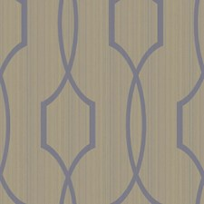Shining Silver/Cocoa Brown Trellis Wallcovering by York