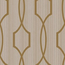 Bright Gold/Softest Grey Trellis Wallcovering by York
