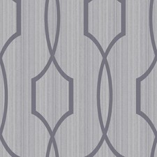 Shining Silver/Softest Grey Trellis Wallcovering by York