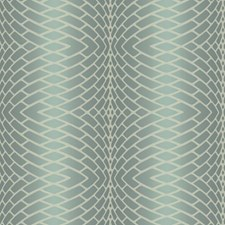 Frosted Aquamarine/Frosted Sea Glass Green/Breakers White Plush Geometrics Wallcovering by York