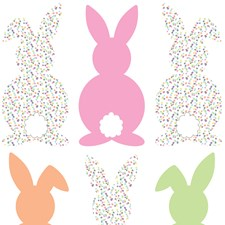 DWPK2405 Bunch of Bunnies Wall Art Kit by Brewster