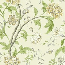 Rich Cream/Grey/Amber Botanical Wallcovering by York