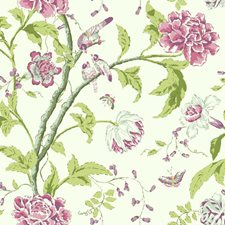 Pearl/Pale Grey/Heather Pink Botanical Wallcovering by York