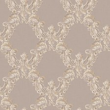Silver/Cream/Pale Lavender Traditional Wallcovering by York
