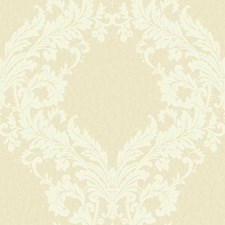 Golden Pearl/Cream Damask Wallcovering by York
