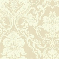 Silvery Beige/Cream Damask Wallcovering by York