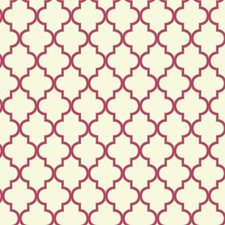 Cream/Sizzling Pink/Sterling Silver Geometrics Wallcovering by York