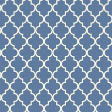 Azure Blue/Swan White/Sterling Silver Geometrics Wallcovering by York