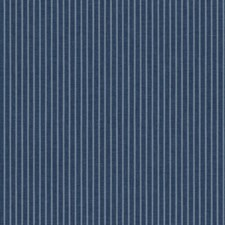 Medium Blue/White Stripes Wallcovering by York