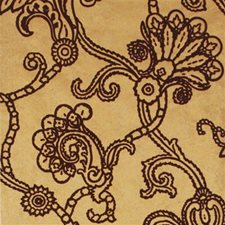 Gold/Plum Damask Wallcovering by Mulberry Home