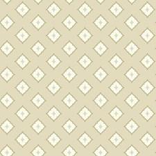 Beige/White/Tan Geometrics Wallcovering by York