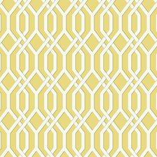 Yellow/White/Dark Grey Geometrics Wallcovering by York