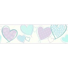 White/Blue/Turquoise Children Wallcovering by York